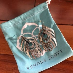 Kendra Scott Karina Feather earrings-silver